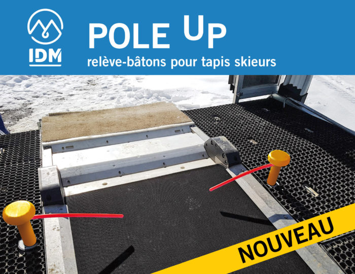 """POLE UP"" , the pole lifter for belt conveyors exit"