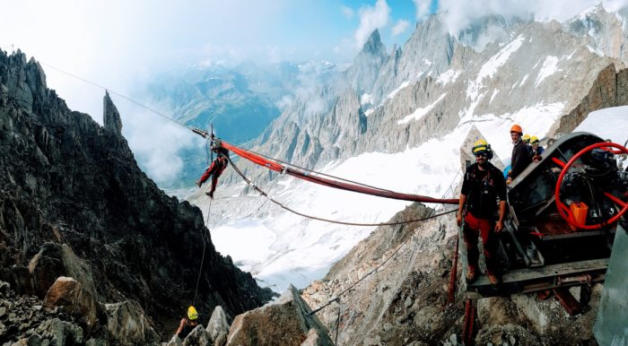 Rope job 2018 : rope changings –  Panoramic Mont-Blanc – Chamonix